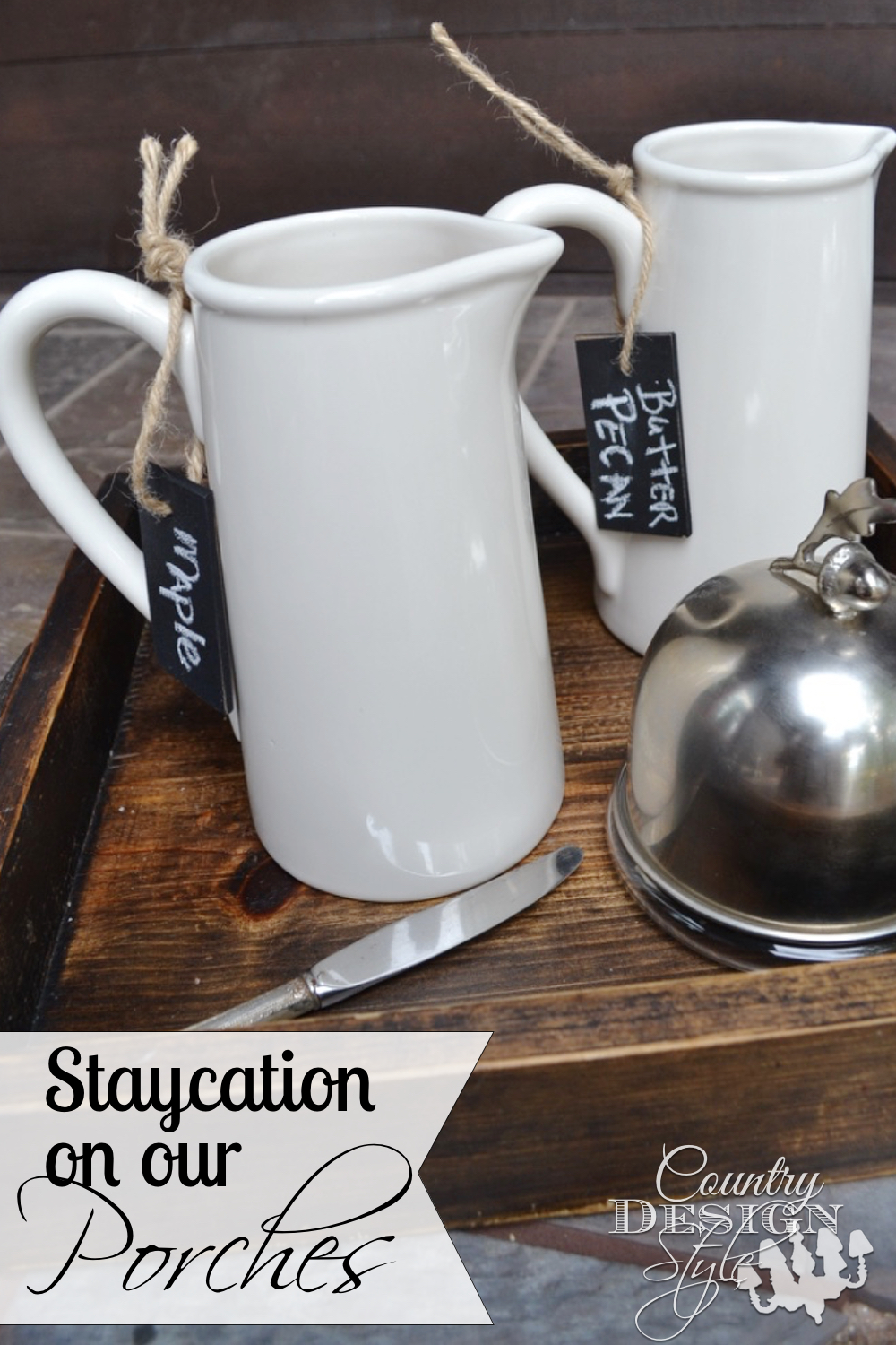 The perfect place for staycation breakfast. Country Design Style