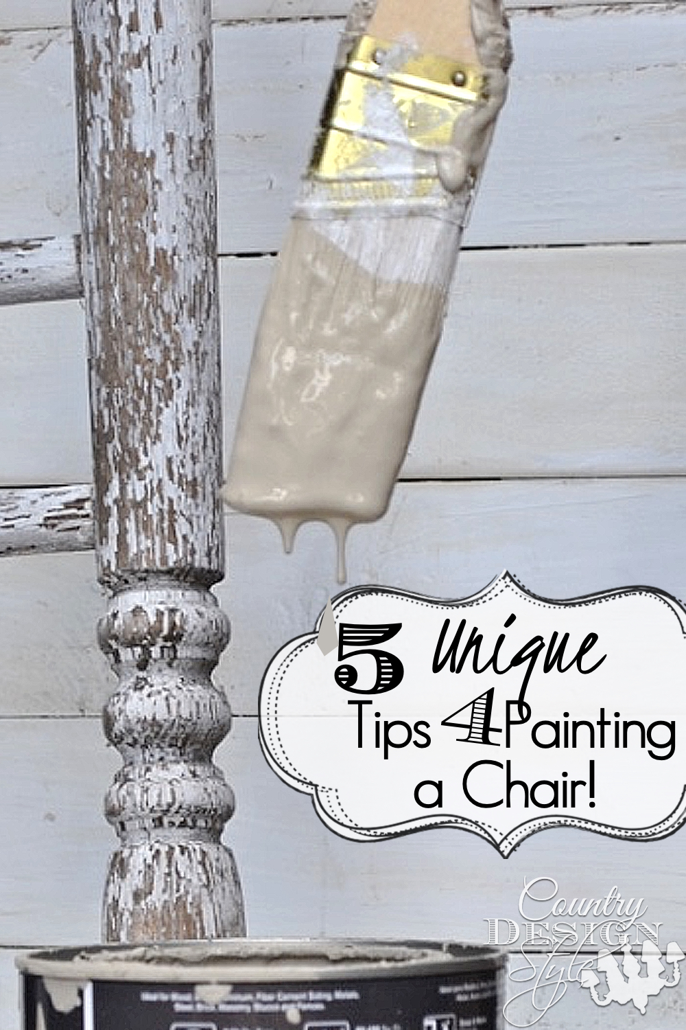 5 Chair painting tips for your diy upcycled chairs. Plus unique tips I do when painting furniture. Country Design Style