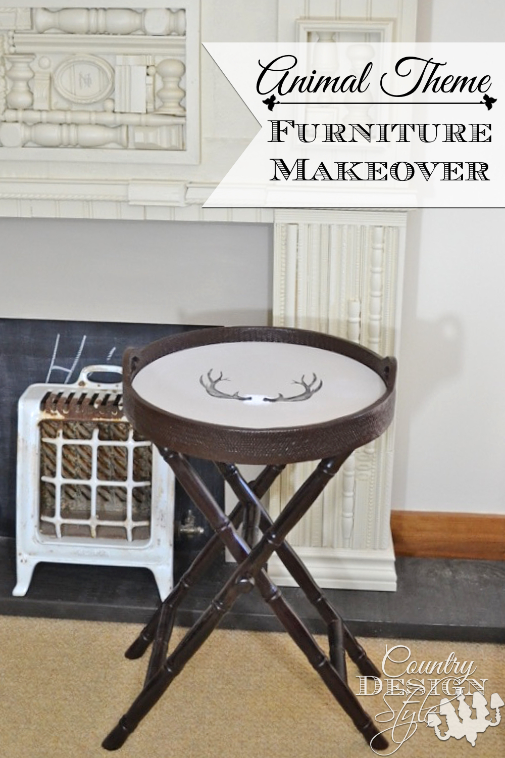 A simple animal theme furniture makeover. Fun for those in cabins around our neighborhood! Country Design Style