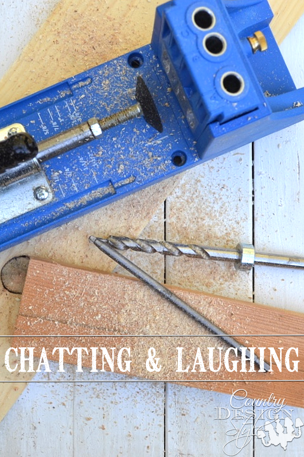 Chatting and laughing with readers in as many ways I can. Thank you for following along with the musings, DIY, tutorials, and creativity on Country Design Style