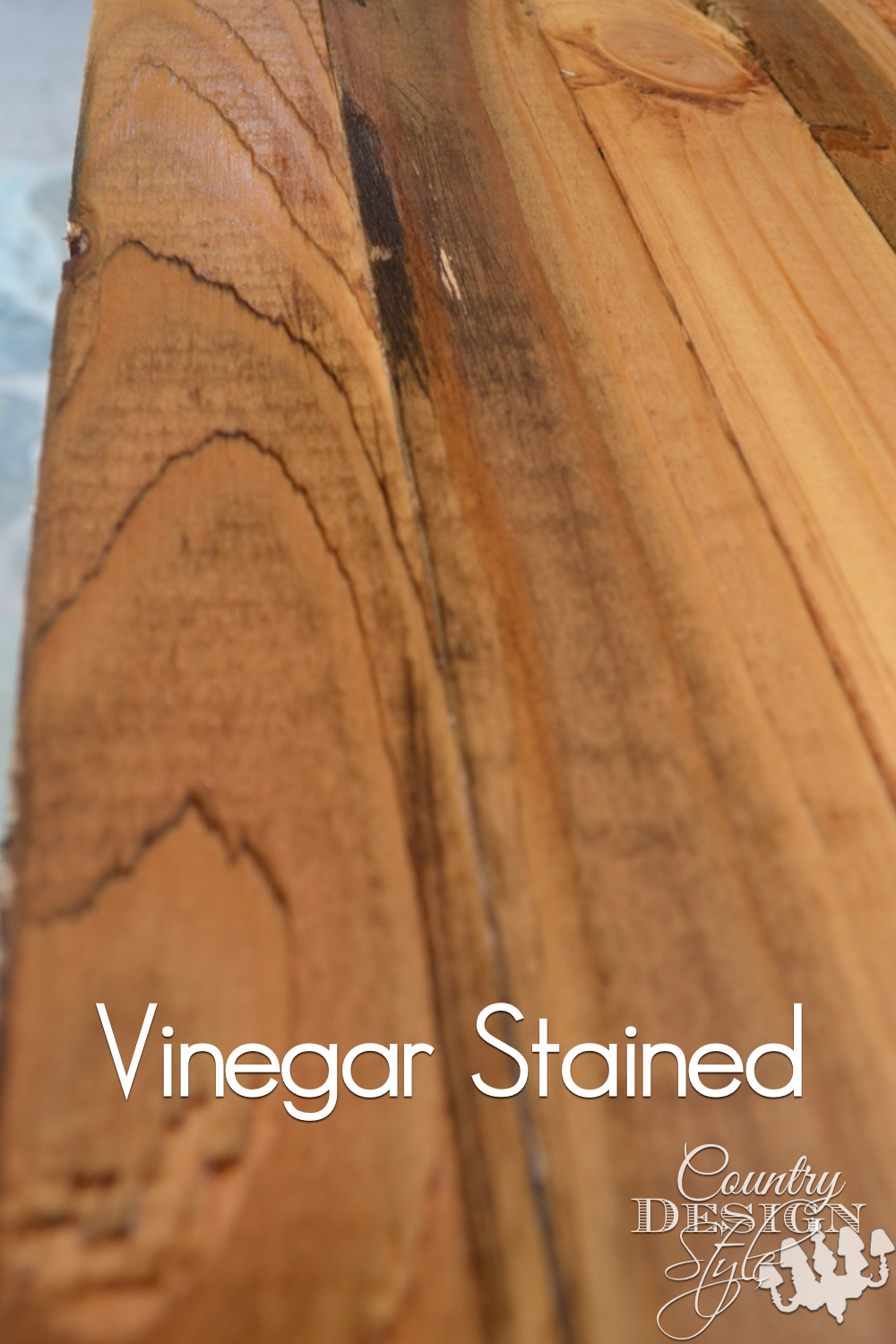 Aging new wood to look old. Loving the detail so much I changed my plans for this DIY project. Click to see the finished project. Country Design Style