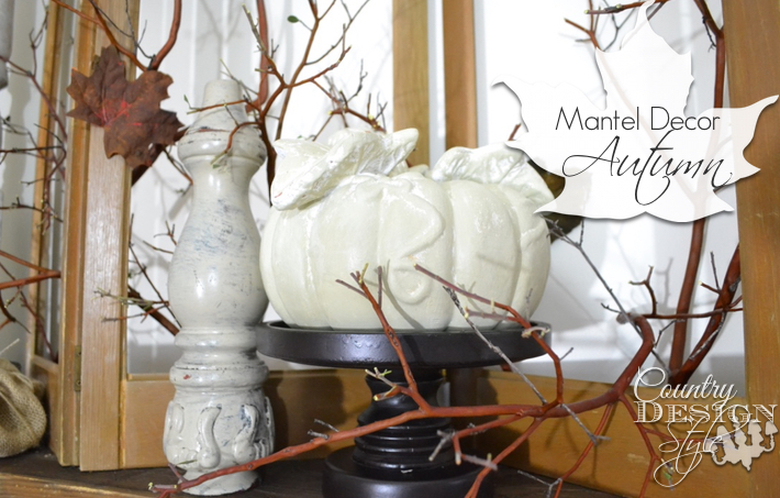 Mantel Decor for Autumn