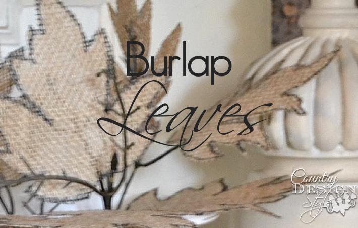 Burlap Leaves