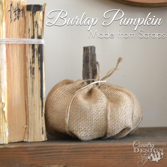 Burlap pumpkin for fall decor easy diy project Country Design Style www.countrydesignstyle.com