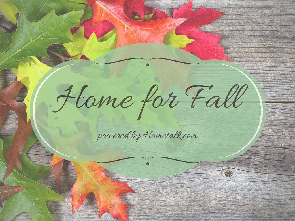 Home for Fall Powered b Hometalk.com and Hometalk Bloggers. Click to be inspired by the most creative fall projects ever! Country Design Style www.countrydesignstyle.com