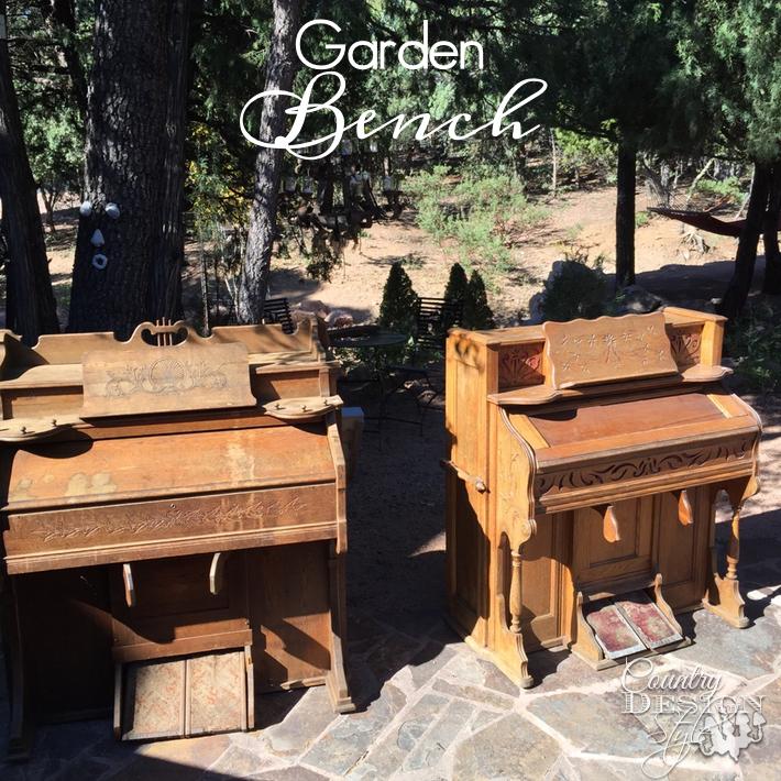 garden bench organs-country-design-style