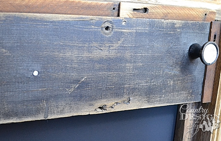 Rustic old wood from broken organ to make faux mantel   countrydesignstyle.com