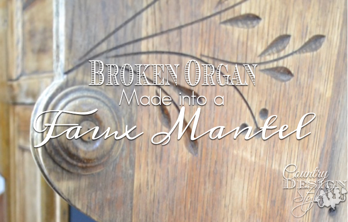Details of old broken organ turned into faux mantel | countrydesignstyle.com
