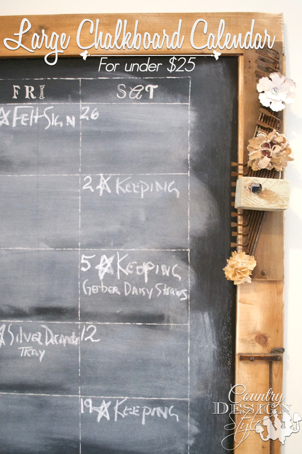 How to make a Large Chalkboard | Country Design Style | countrydesignstyle.com