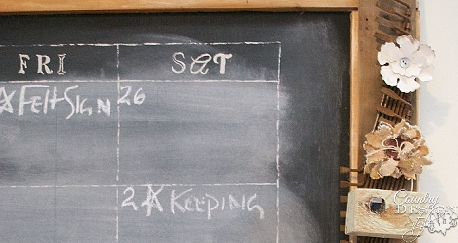 Large Calender Chalkboard | Country Design Style | countrydesignstyle.com