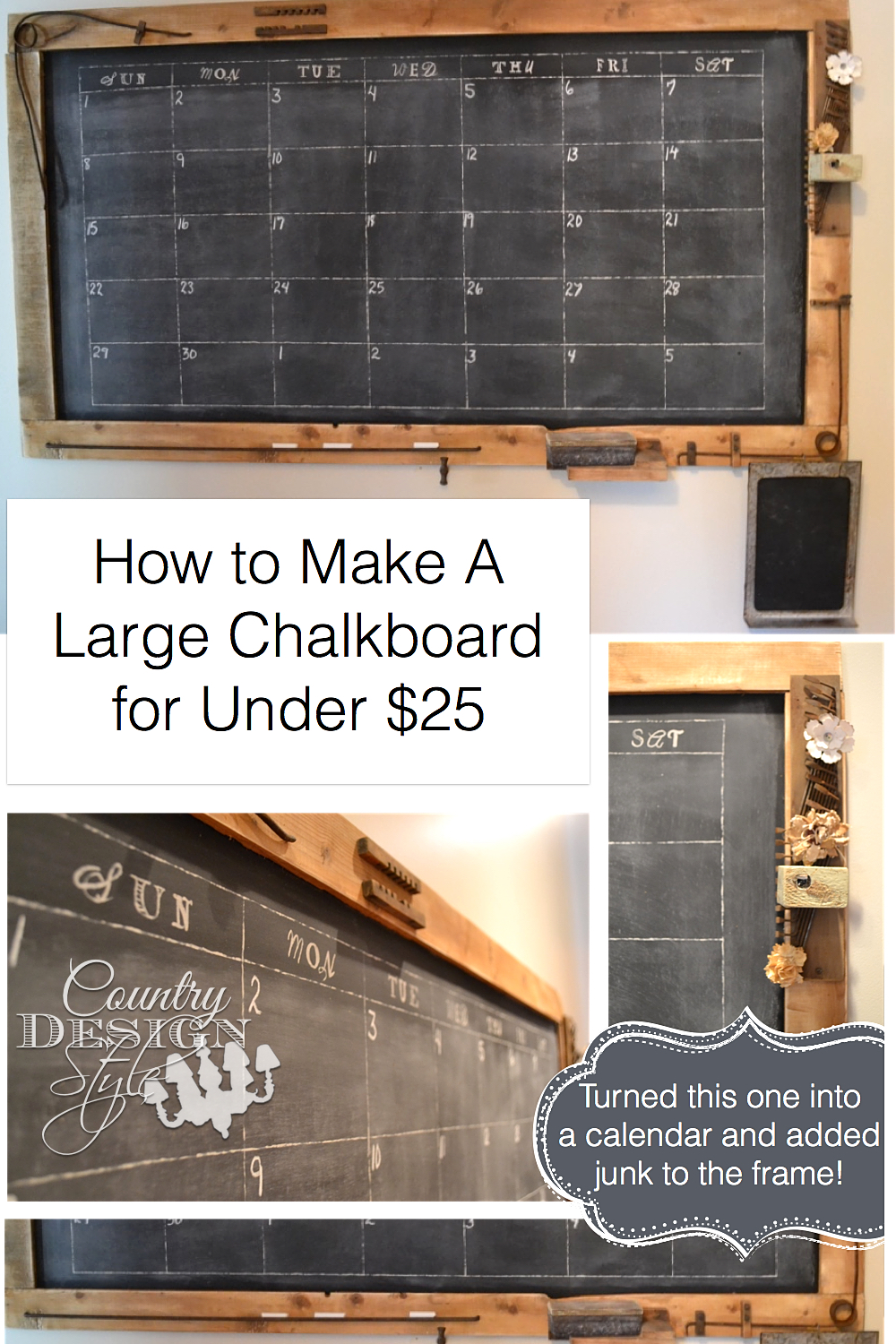 How To Make A Large Chalkboard With Free Plans Download For Under $25 |  Countrydesignstyle. Amazing Pictures