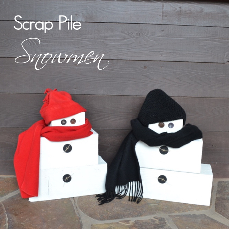 stacked-wood-snowmen | countrydesignstyle.com sq