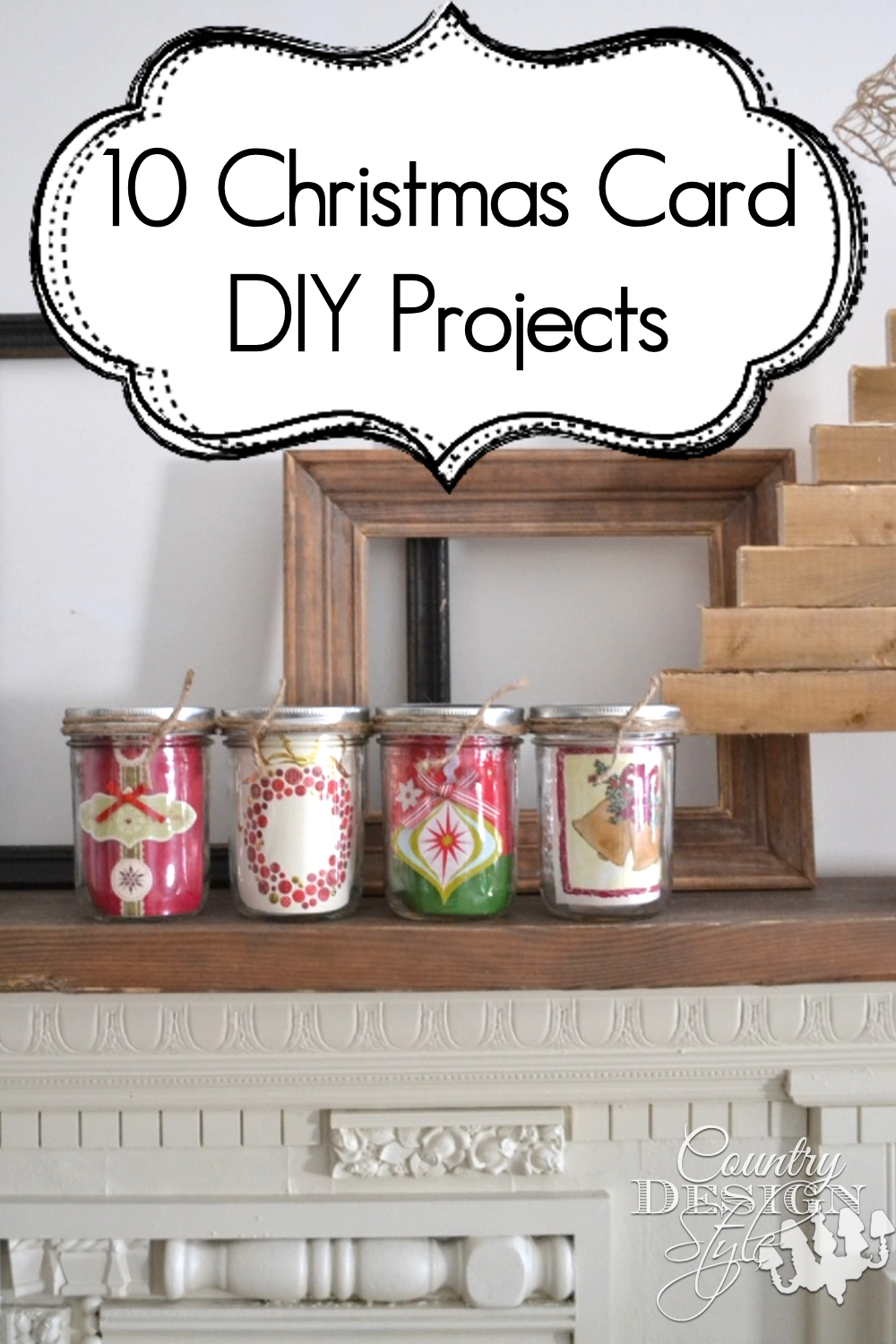 10 Holiday Card DIY Projects | Country Design Style | countrydesignstyle.com