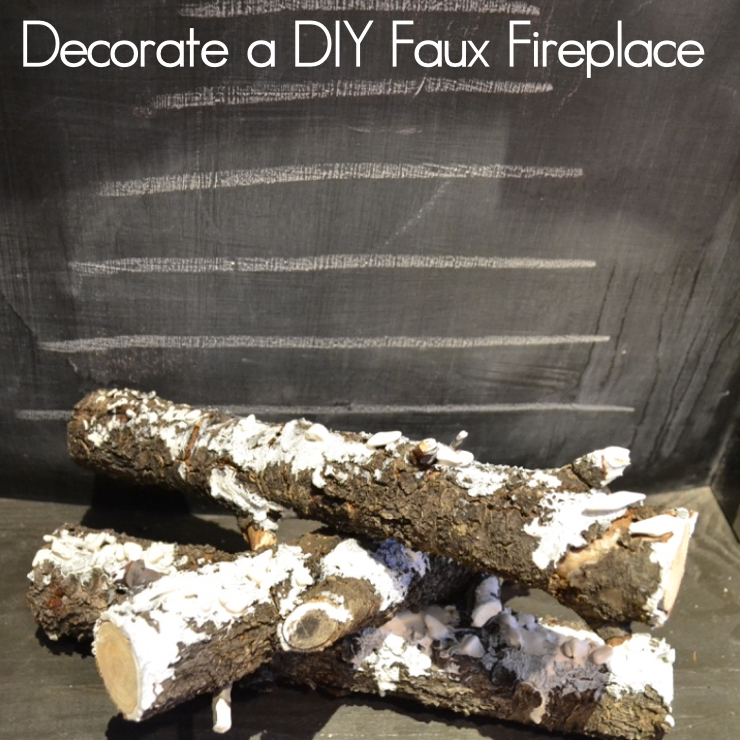 An Idea to Decorate a DIY Faux Fireplace | Country Design Style | countrydesignstyle.com