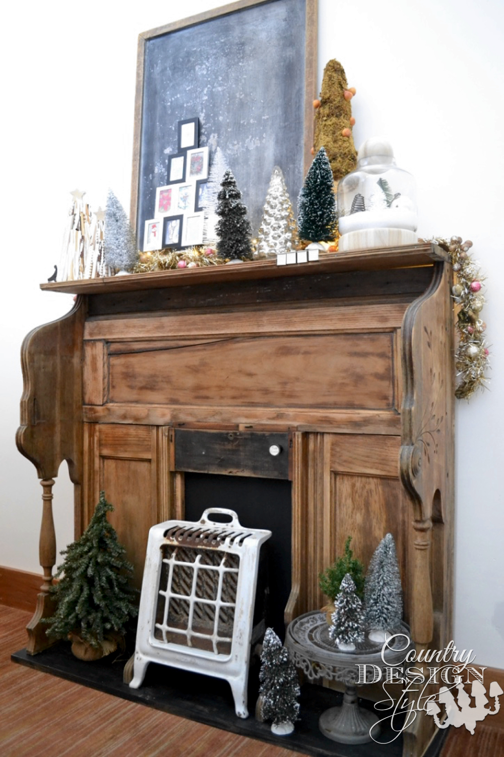 Charming Unique Fireplace Makeover in One Hour | Country Design Style | countrydesignstyle.com