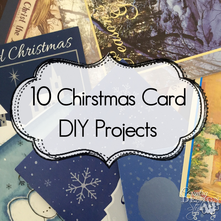 Christmas Card DIY Projects | Country Design Style | countrydesignstyle.com