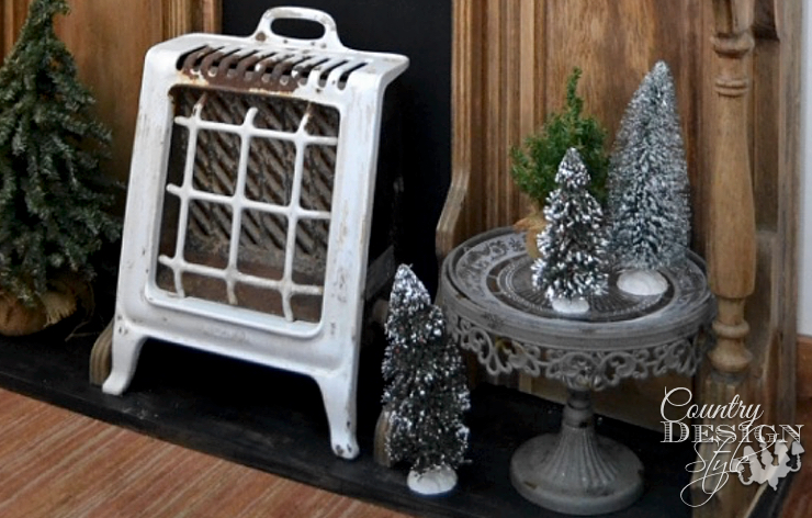 Christmas Unique Fireplace Makeover in One Hour   Country Design Style   countrydesignstyle.com