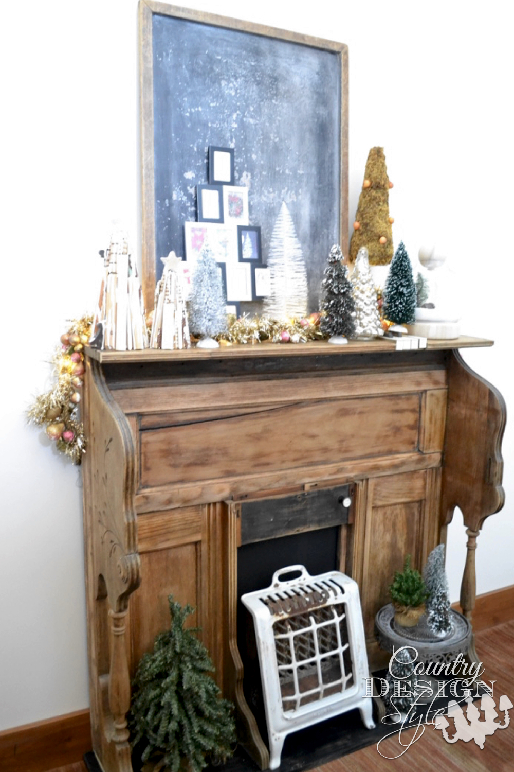 Unique Fireplace Mantels delightful unique fireplace makeover in one hour - country design
