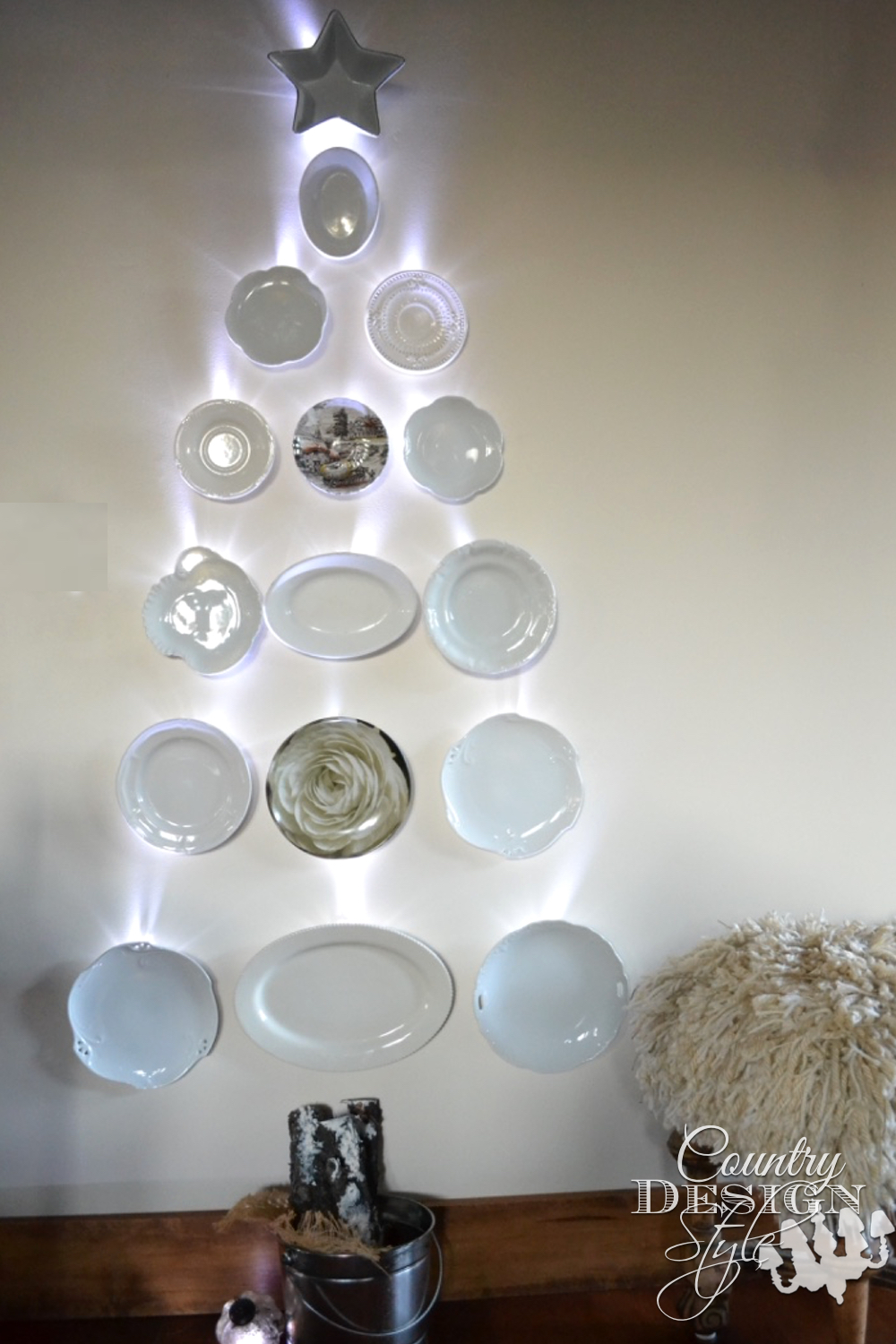 Dish Christmas Tree | Country Design Style | countrydesignstyle.com