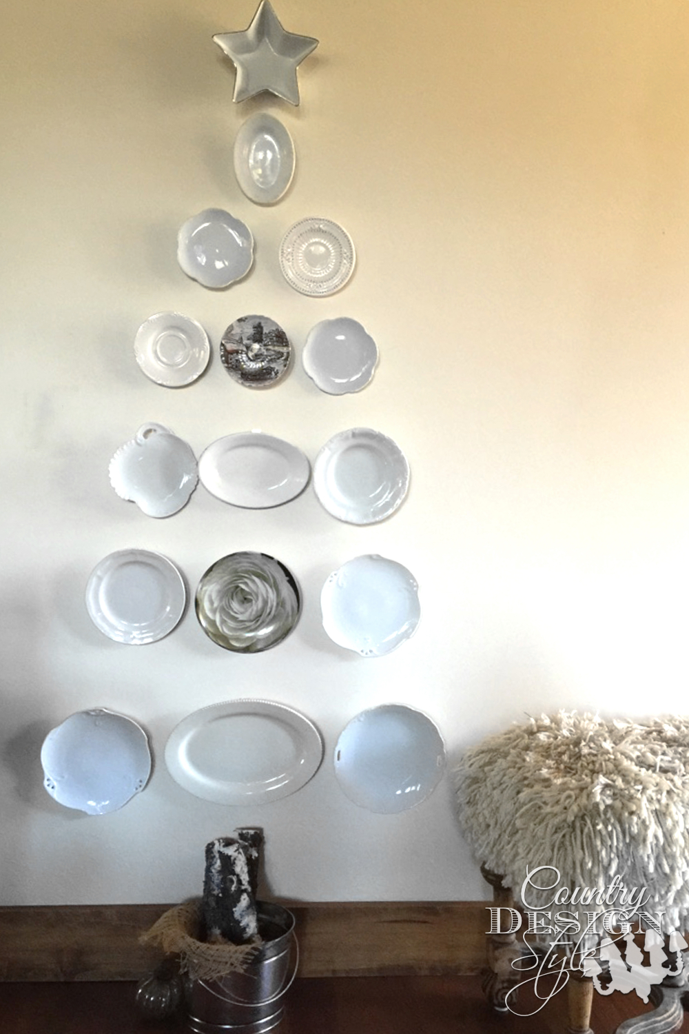 Dish Christmas Tree without Lights | Country Design Style | countrydesignstyle.com