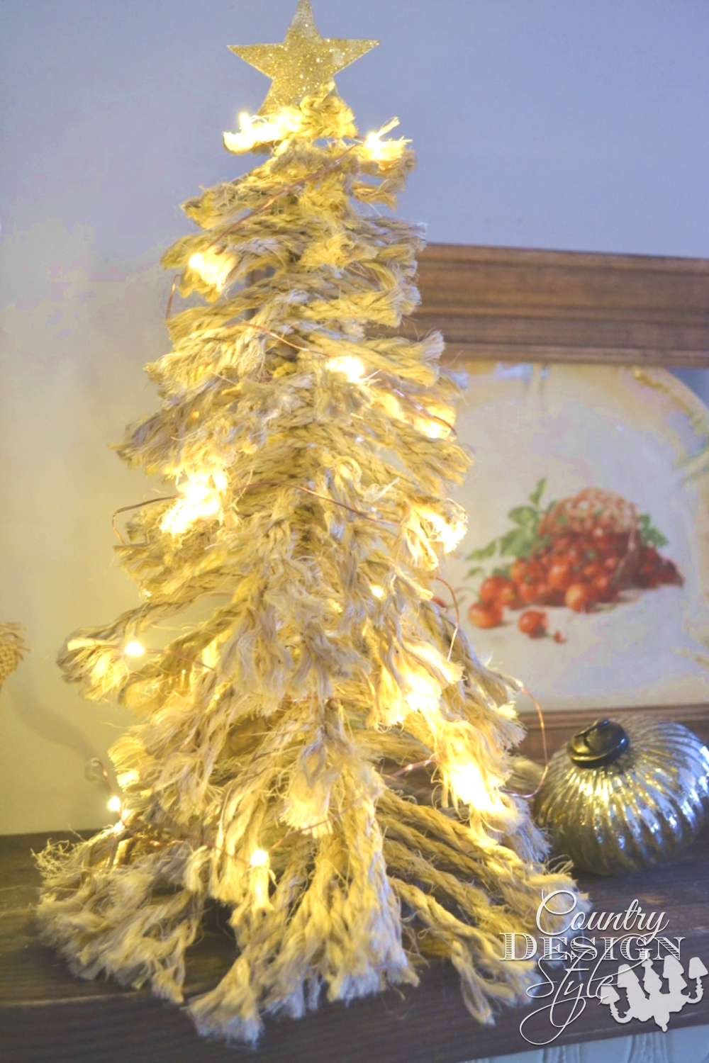 Shaggy Christmas Tree with Lights | Country Design Style | countrydesignstyle.com