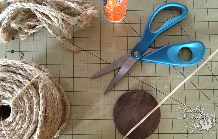 Supplies for a Rope Tree | Country Design Style | countrydesignstyle.com