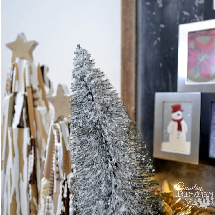 Trees for Unique Fireplace Makeover in One Hour | Country Design Style | countrydesignstyle.com
