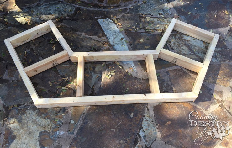 Base done for Garden Bench | Country Design Style | countrydesignstyle.com