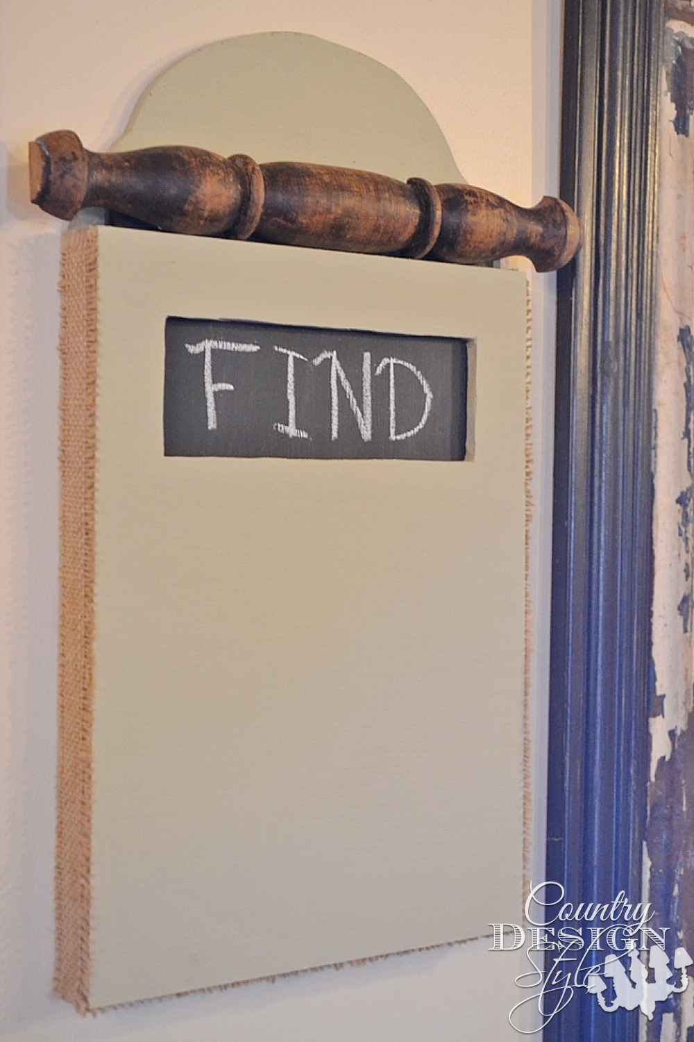 Chalk Hidden Message   Country Design Style   countrydesignstyle.com
