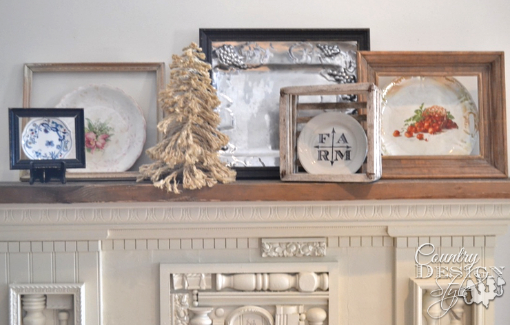 Framed Plate Decorating | Country Design Style | countrydesignstyle.com
