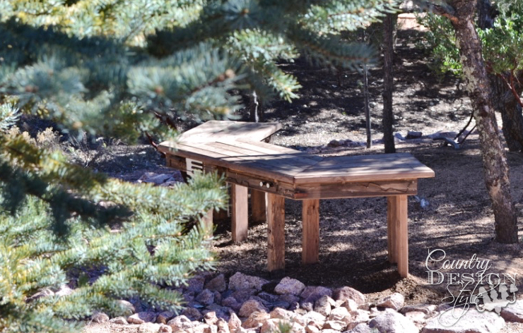 Garden Bench in the Trees | Country Design Style | countrydesignstyle.com