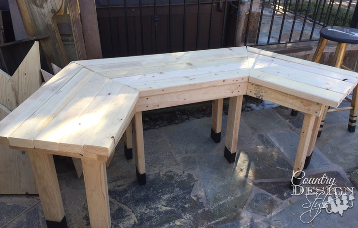 Garden Bench ready to aged | Country Design Style | countrydesignstyle.com