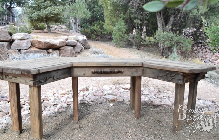 Our Garden Bench | Country Design Style | countrydesignstyle.com