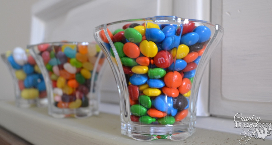 Candy Dish made with light globes | Country Design Style | countrydesignstyle.com