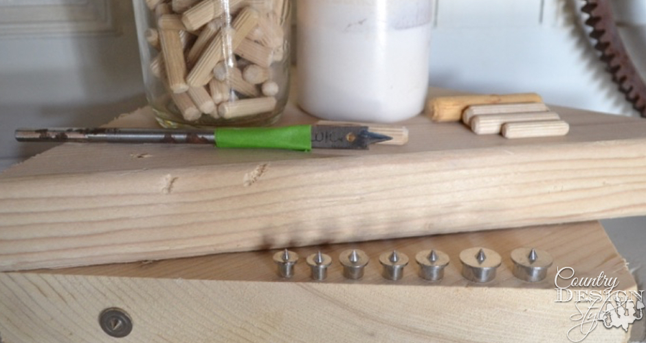 How to use dowel pins | Country Design Style | countrydesignstyle.com