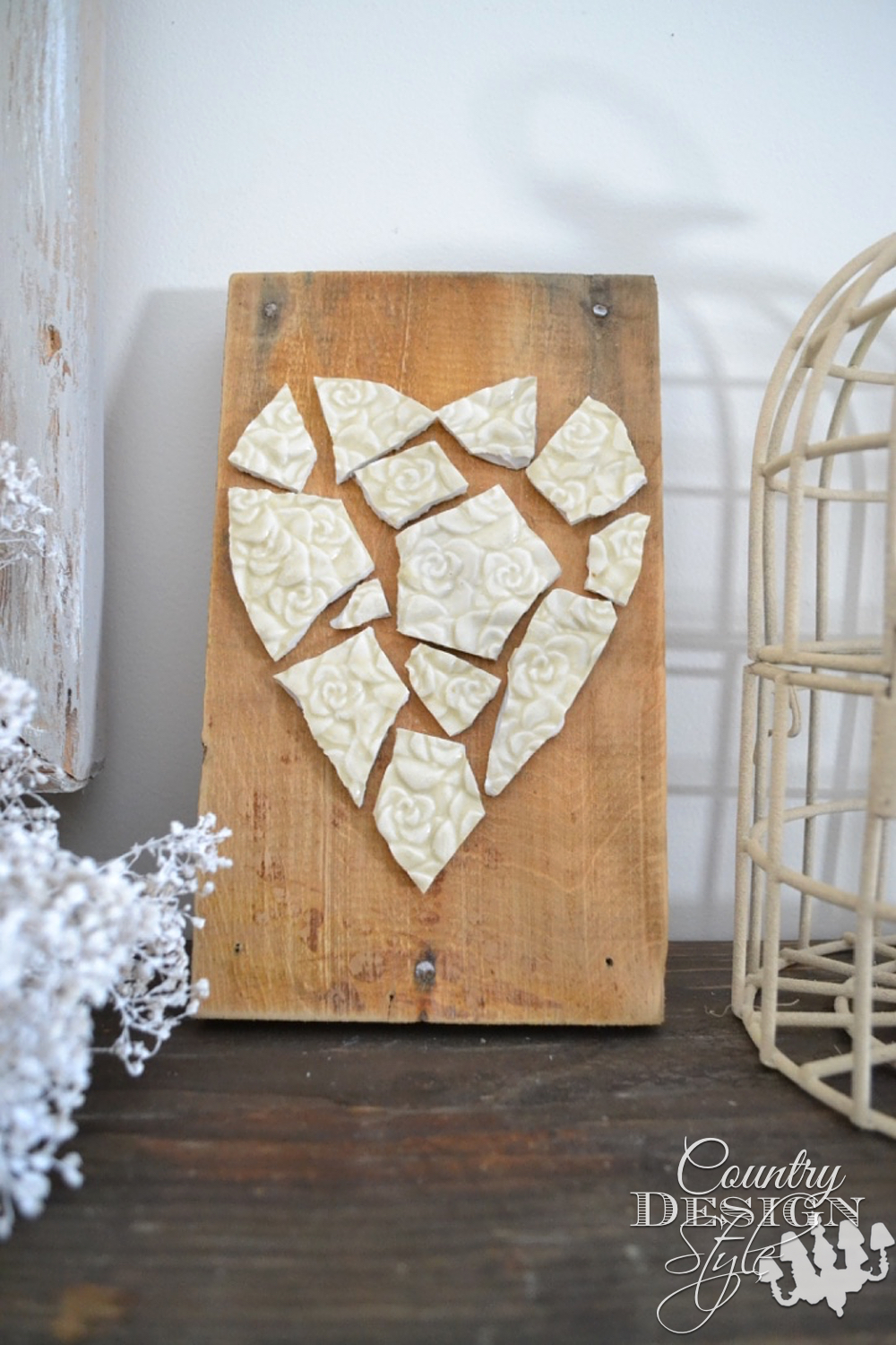 Mosaic Heart Plaque pn | Country Design Style | countrydesignstyle.com