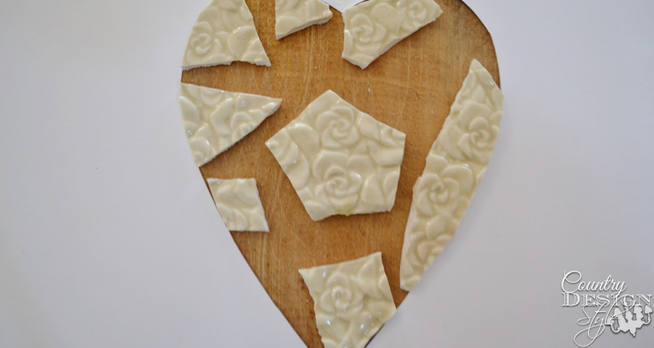 No grout mosaic heart plaque   Country Design Style   countrydesignstyle.com