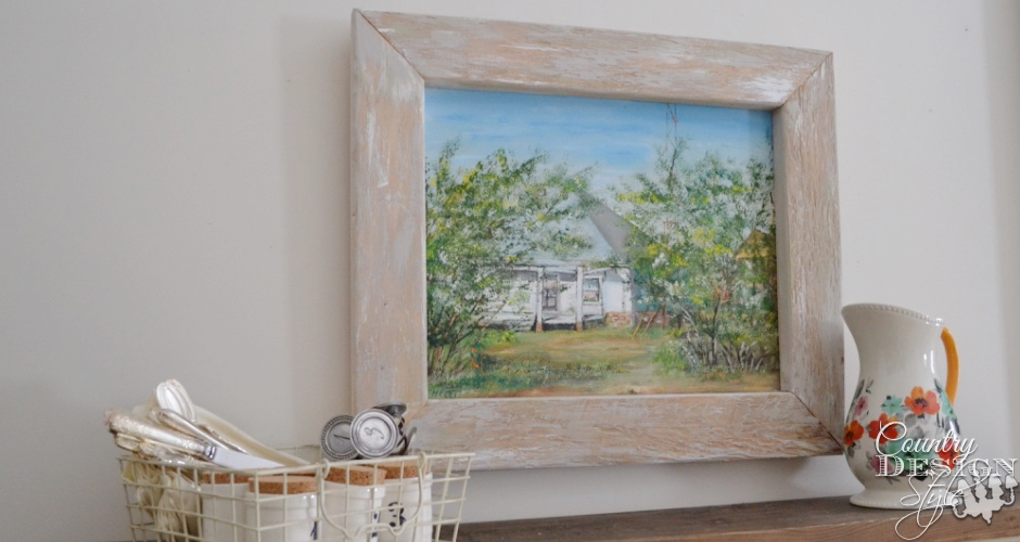 Old Farm Picture in 2 by 4 frame | Country Design Style | countrydesignstyle.com
