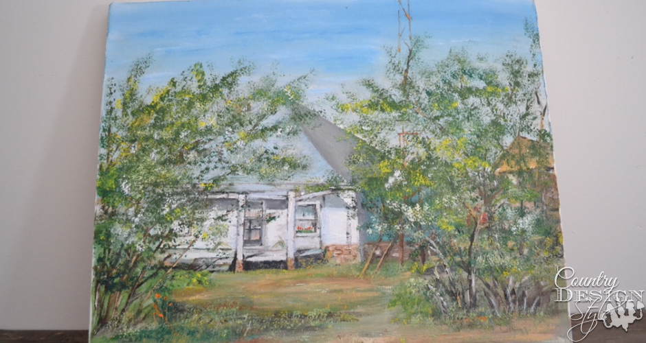 Old farmhouse painting | Country Design Style | countrydesignstyle.com