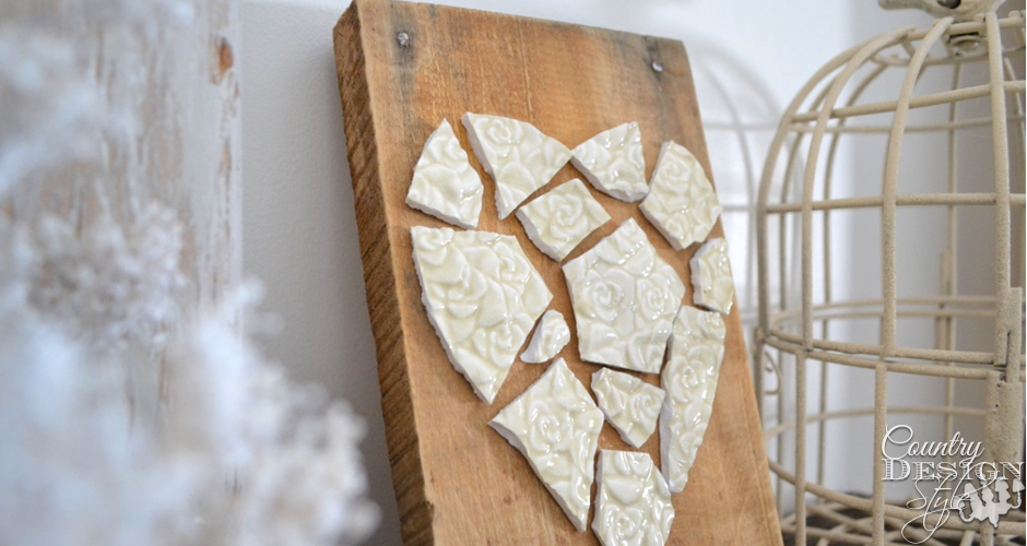mosaic heart plaque fp | Country Design Style | countrydesignstyle.com