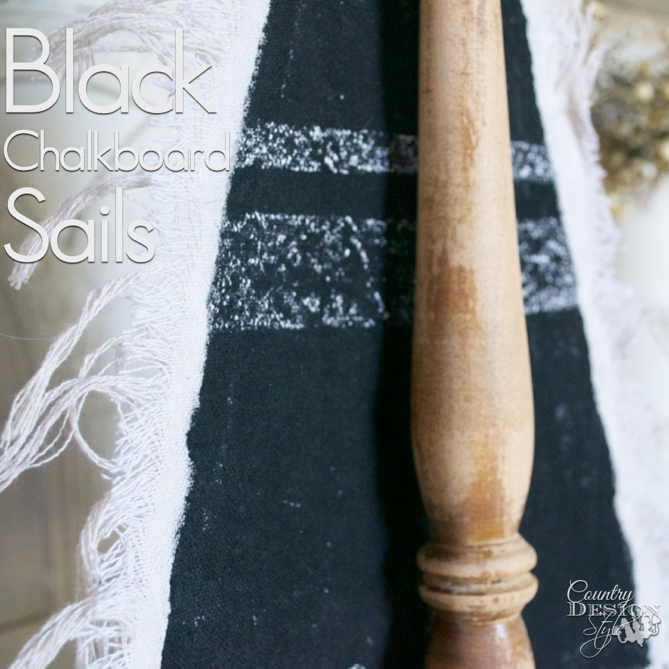 Black Chalkboard Sails | Country Design Style | countrydesignstyle.com