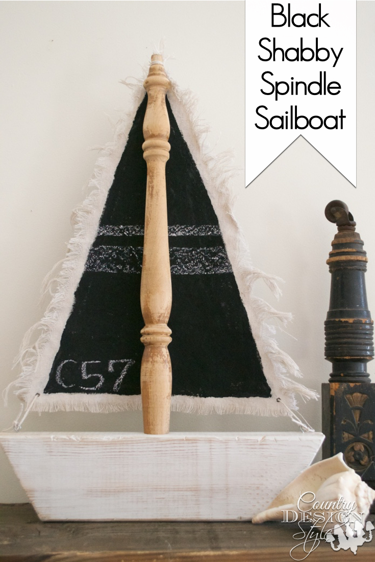 Black Chalkboard Sails Pin | Country Design Style | countrydesignstyle.com