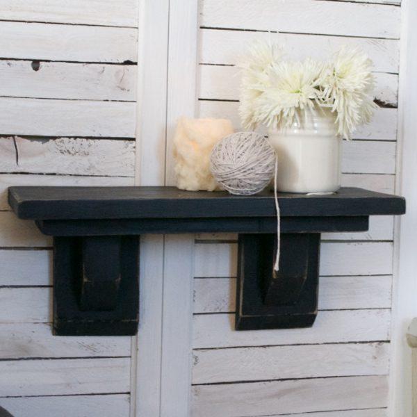 Craftsman Farmhouse Shelf Black | Country Design Style | countrydesignstyle.com