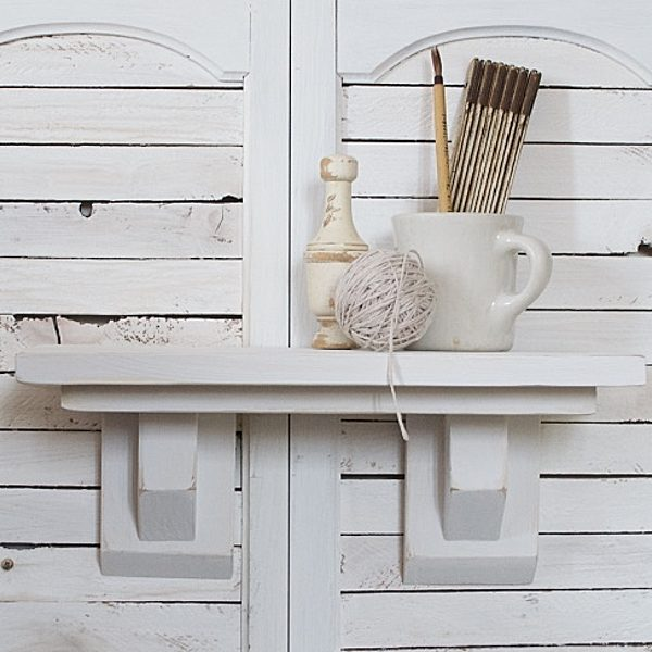 Craftsman Farmhouse Shelf White | Country Design Style | countrydesignstyle.com