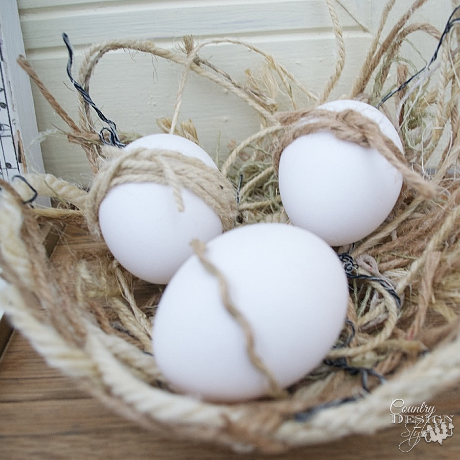 Eggs In Twine Nest
