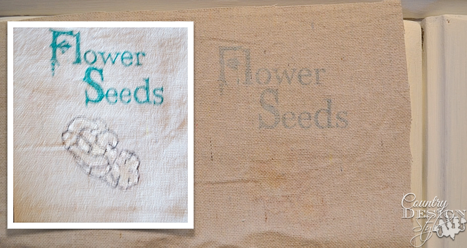 Falling Flowers Spring Sign Seed Packet | Country Design Style | countrydesignstyle.com
