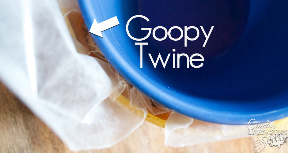 Goopy Twine to make Twine Nests | Country Design Style | countrydesignstyle.com