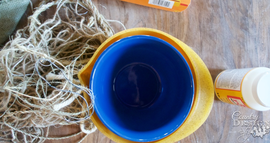 How to make twine nests | Country Design Style | countrydesignstyle.com