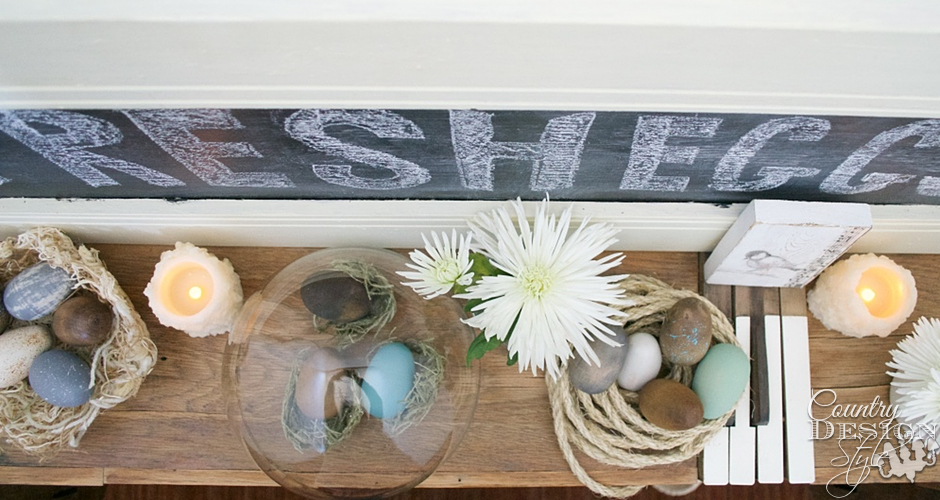 Make an Easter Mantel | Country Design Style | countrydesignstyle.com