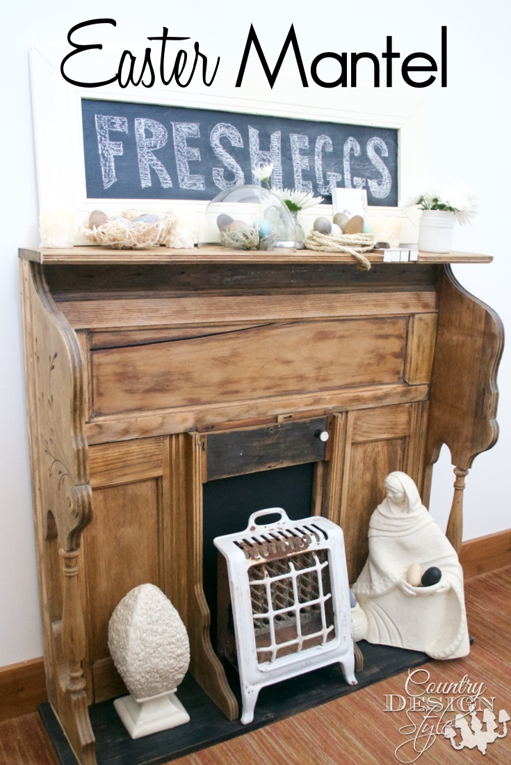 Make an Easter Mantel Display | Country Design Style | countrydesignstyle.com